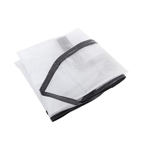 【ノーブランド品】ゴルフバッグ レインカバー ジッパーバッグ 防水防塵 透明カバー