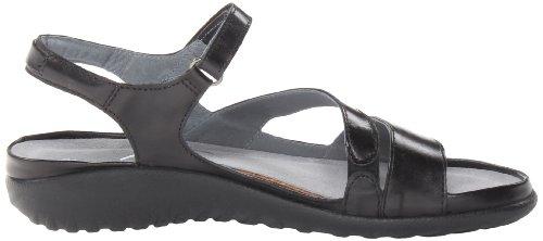 Naot Damen Schuhe Sandaletten Etera Leder schwarz 13917 Wechselfußbett Fußbett