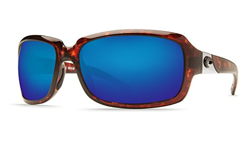 Costa Isabela Sunglasses Tortoise Frame Blue Mirror