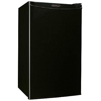 Danby Compact Mini Bar Dorm Home Beverage Cooler Fridge Refrigerator, Black
