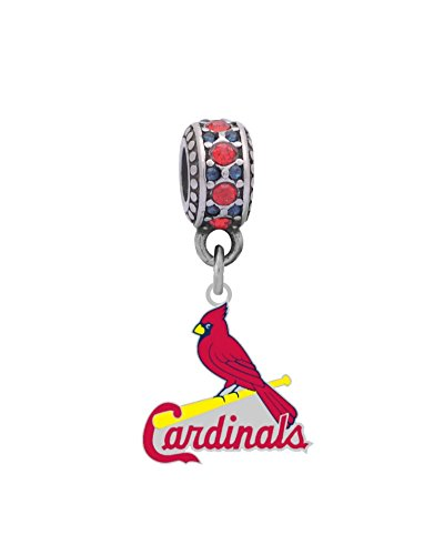 Louis Cardinals Slide (St. Louis Cardinals Cardinal Charm Fits European Style Large Hole Bead Bracelets)