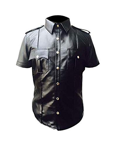 Sheep Leather Police Real Uniform Shirt BLUF Gay Mens Hot Lamb