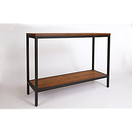 Bamboogle Brooklyn Loft Collection Contemporary Bamboo Sofa Console Table With Black Legs 44 X 14 X 32 Koa