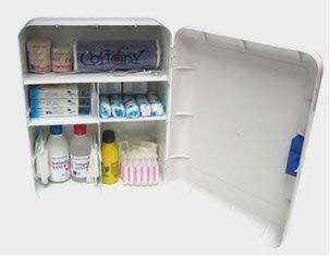 Botiquín primeros auxilios pared 390x310x170mm con dotación