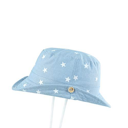 (Baby Toddler Kids Boy Girl Bucket Reversible Sun Protection Star Hat Kids Boys Girls Cute Cotton Soft Sun Hat Brim Hat)