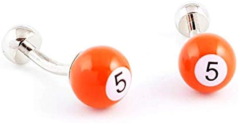 LA BELLE MANCHETTE Gemelos de Bola de Billar número 5 de Color ...