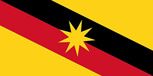 magFlags Large Flag Sarawak | landscape flag | 1.35m² | 14.5sqft -- 100% Made in Germany -- long lasting outdoor flag