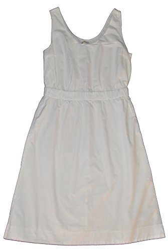 GAP Womens White Scoop Neck Cinched Lined Sun Dress Medium