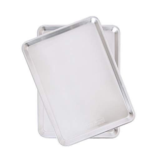 Nordic Ware Natural Aluminum Commercial Baker's Half Sheet, 2 pack, 2-Pack, Silver