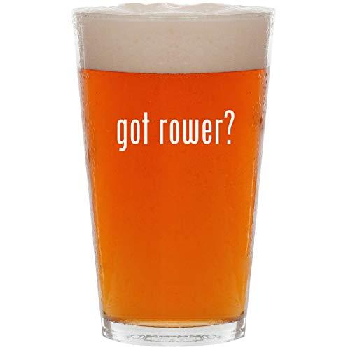 got rower? - 16oz Pint Beer Glass