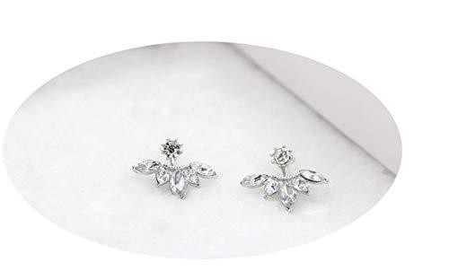 (Imitation Pearl Heart Crystal Flower Leaf Angel Wings Geometry Stud Earrings For Women Statement Ear)