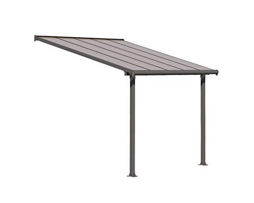 Palram HG8810 Olympia Patio Cover, 10' x 10' (Polycarbonate Patio And Aluminum Cover)