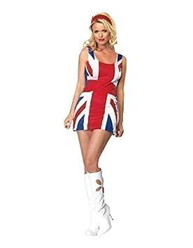 Vestido Bandera Reino Unido Adulto Ginger Spice Disfraz Fantasía