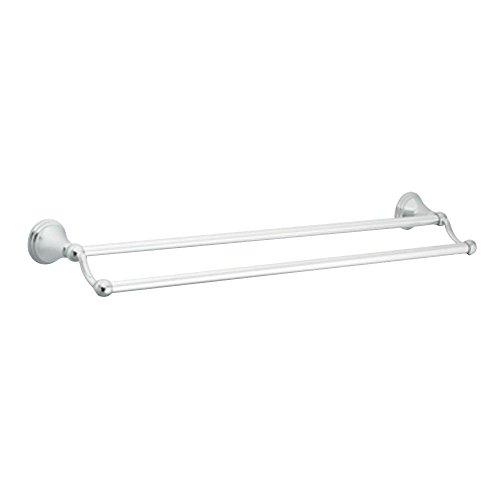 Moen DN8422CH Preston 24-Inch Bathroom Double Towel Bar, Chrome - Moen Preston Mirror