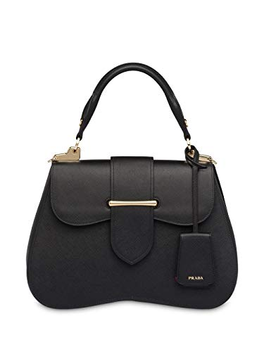Luxury Fashion | Prada Woman 1BN002VOJONZVF0002 Black Leather Shoulder Bag | Fall Winter 19