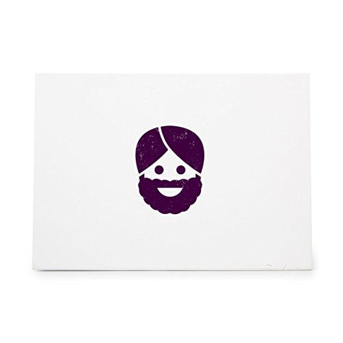 Happiness Beard Emotion Face Style 7578, Rubber Stamp Shape great for Scrapbooking, Crafts, Card Making, Ink Stamping - Shape Beard Face Styles For