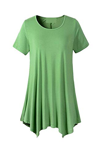 Mode Bouffant Vert Style Femme Top Classique Uni Et Courtes Irrgulier Shirt Tops Manches Branch Manche Casual Fille Rond Col Tshirt Elgante Moderne Tee xXBqZw5