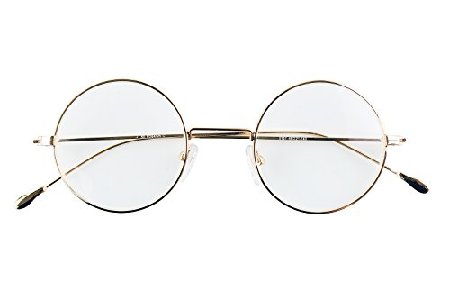 Agstum Antique Round Metal Vintage Reading Glasses Readers 44-21-140 (+1.50, Light - Glasses Frames Antique Style