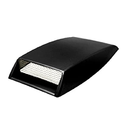 Amico Car Hood Scoop Universal Air Flow Vent Black with Mesh