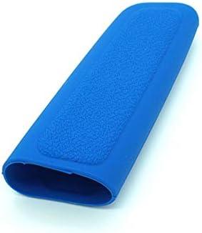 Pommeau de levier de vitesses en silicone pour voiture Parking Poign/ée de frein de voiture Poign/ée de protection Housse D/écoration Styler bleu