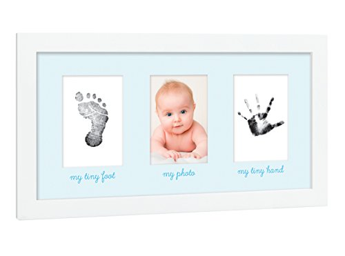 Tiny Ideas Baby's Print Handprint or Footprint Keepsake Photo Frame - A Great Baby Shower - Tiny Framed