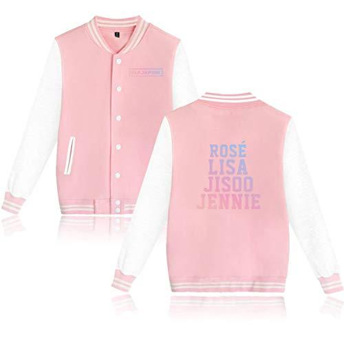 DJS Kpop Blackpink Unisexe Baseball Jacket JISOO Jennie Rose Lisa Imprim Sweats  Capuche Casual  Manches Longues en Coton Manteaux Fans Soutiens Streetwear Vestes 4