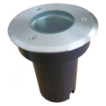 Round Recessed Stainless Steel Light MR16, Walk/Drive-over