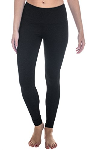 90 Degree By Reflex - High Waist Power Flex Legging - Tummy Control - Heather Charcoal Large