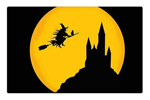 Tree26 Indoor Floor Rug/Mat (23.6 x 15.7 Inch) - Castle Witch Night Haloween Background Card -