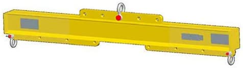 8000 Lb Capacity M/&W 48-96 Economy Lift Beam Adjustable Length