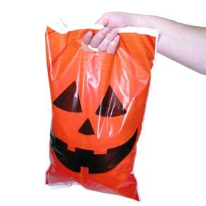 - Jack O Lantern Trick Or Treat Bags; 50 Pack