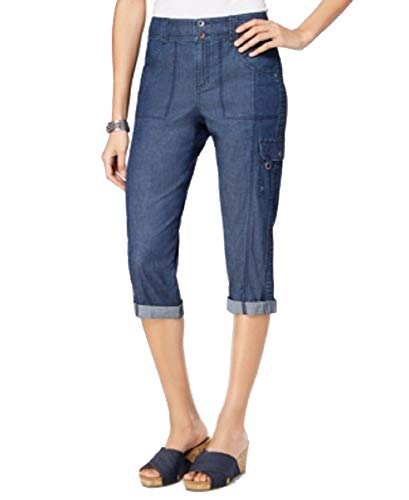 Style & Co. Cropped Cargo Pants (Medium Chambray, 6)