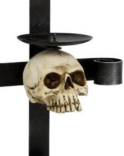 Wand Kerzenhalter aus Metall.mit Totensch/ädel Replik Totenkopf Totensch/ädel Figur Kerzenst/änder