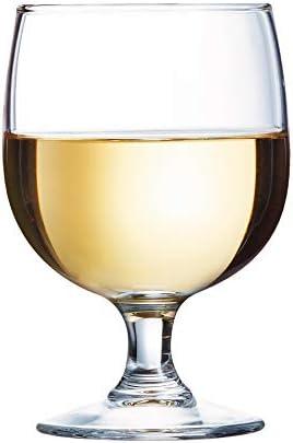 Arcoroc Amelia vasos para Vino, Vidrio Templado sin la marca de llenado, Transparente, 190 ml, 12 Piezas