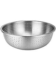 Kitchen Strainer Colander Stainless Steel Rice Washing Bowl Colander Strainer for Kitchen Washing Vegetables Fruit and Pasta
