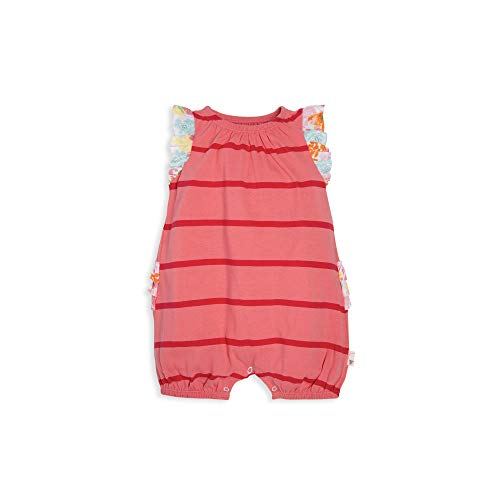 Burt's Bees Baby Baby Girls Romper Jumpsuit, 100% Organic Cotton One-Piece Coverall, Pink Poppy Bubble, 24 Months ()