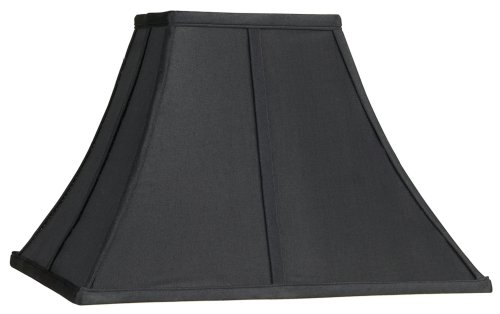 UPC 736101108610, Square Curved Black Lamp Shade 6x14x9 1/2 (Spider)