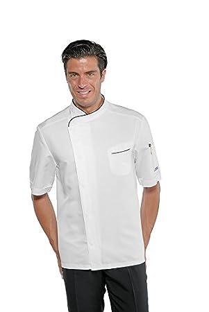 65/% Poliestere 35/% Cotone F.I.C. Isacco Giacca cuoco Bilbao Bianco+Italy 3XL Manica Lunga Bianco+Italy