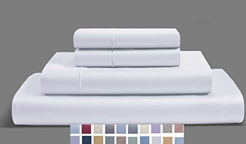 CHATEAU HOME COLLECTION 800-Thread-Count Egyptian Cotton Deep Pocket Sateen Weave Sheet Set (SPLIT KING, (Weave Cotton Bedding)