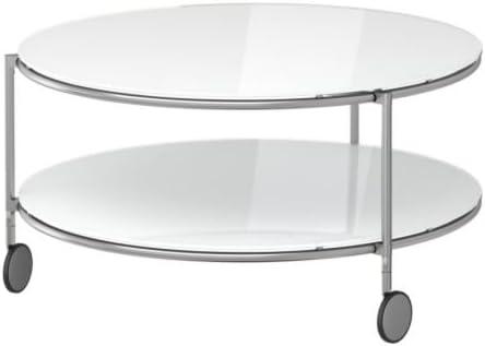 Ikea STRIND - Mesa de Centro, Blanco, niquelado - 75 cm: Amazon.es ...