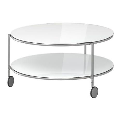 IKEA STRIND - Mesa de centro, blanco, niquelado - 75 cm: Amazon.es: Hogar
