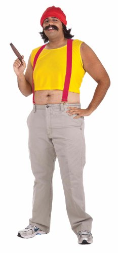 Chong Halloween Costumes (Men's Cheech Costume, Yellow/Red, One Size)