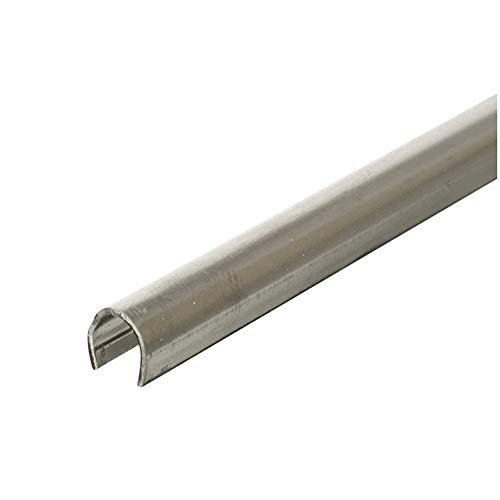 "PRIME-LINE D 1579-1 Sliding Door Repair Track – Repair Worn or Damaged Sliding Glass Door Aluminum Tracks and Horizontal Sliding Window Tracks, 1/4"" x 8', Stainless Steel (5 Pack)"