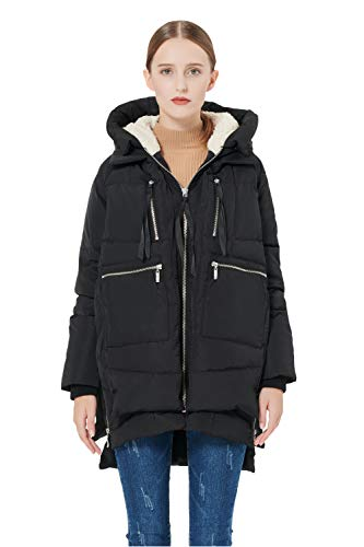 Orolay Women's Thickened Down Jacket Black L