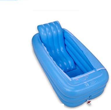 Kk インフレータブルプールホットタブ浴槽は電動エアーポンプインフレータ折りたたみ耐久性のある大人の入浴浴槽の浴槽を膨らま
