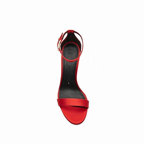 con Donna Spillo UN Scarpe Estiva Fibbia Alto da a 37 Scarpe DIDIDD Tacco con Sandali RxFtZZ
