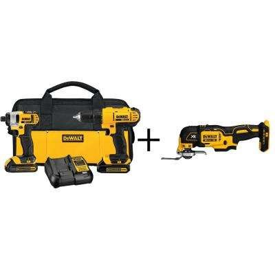 DEWALT 20-Volt MAX Lithium-Ion Cordless Combo Kit (2-Tool) with Bonus Bare Cordless Oscillating Multi-Tool