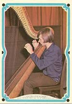 1967 Donruss Monkees C R818-11C (Non-Sports) card#44 Peter Tork (playing harp) of the Grade Excellent from Donruss