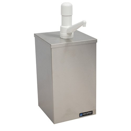 San Jamar P9800 1 Gallon Condiment Pump Box Dispenser - Giant Pump Condiment