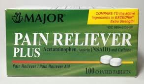 [3 Pack] Pain Reliever Plus Tablets, 100/bottle *Compare TO the active ingredients in EXCEDRIN Extra Strength & Save!* (Strength Excedrin Extra)
